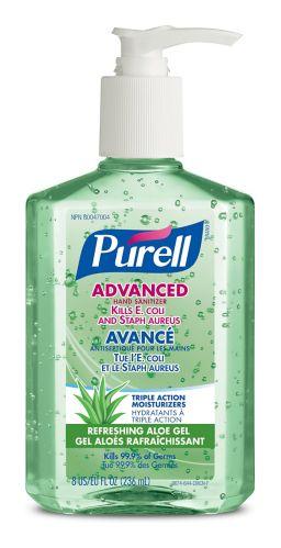 Désinfectant instantané pour les mains avec aloès Purell, 236mL