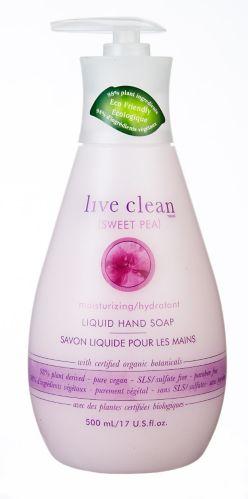 Savon liquide Live Clean, pois de senteur
