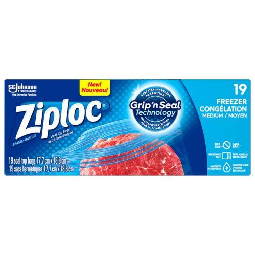 Ziploc Medium Freezer Bags, 19-ct Product image