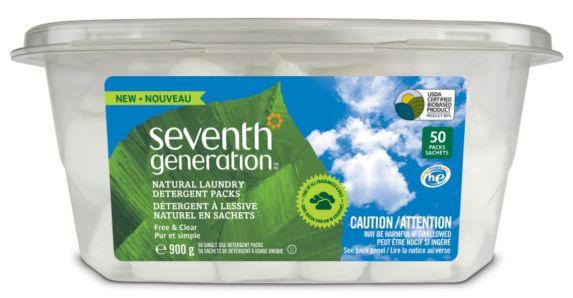 Capsules de détergent à lessive Seventh Generation Natural, paq. 50