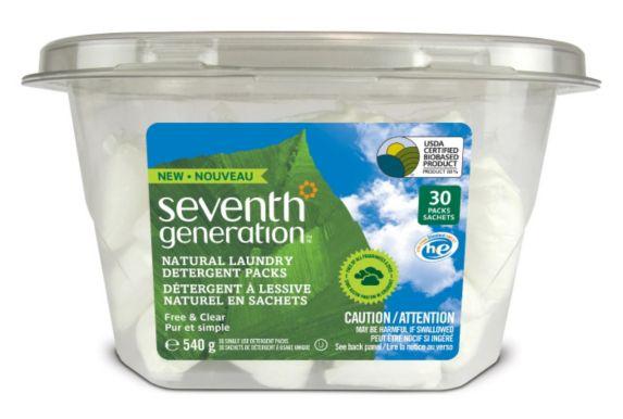 Seventh Generation Natural Laundry Detergent Pods, 30-pk