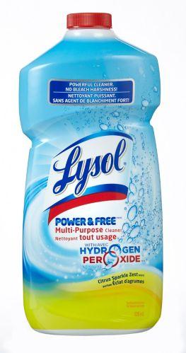 Nettoyant Lysol Power & Free, éclat d'agrumes, 828 mL
