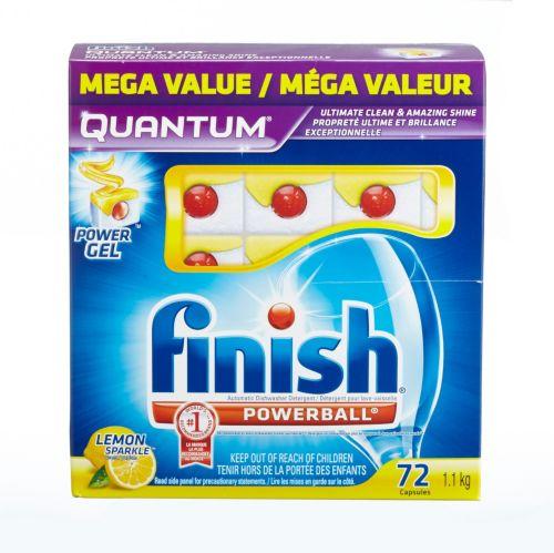 Finish Quantum Lemon Powerballs, 72-pk