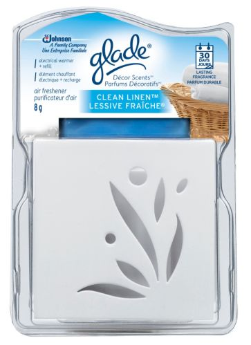 Glade Decor Scents Electric Warmer Clean Linen
