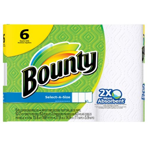 Bounty Select A Size Paper Towel 6 Pk Canadian Tire