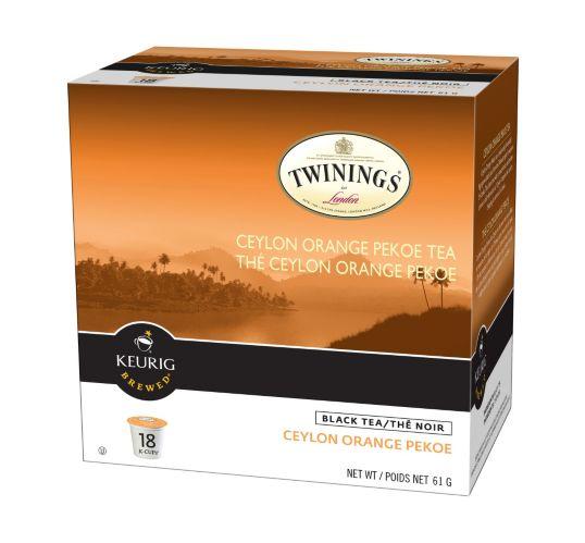 Keurig Twining's Ceylon Orange Pekoe Tea K-Cup Pods, 18-pk