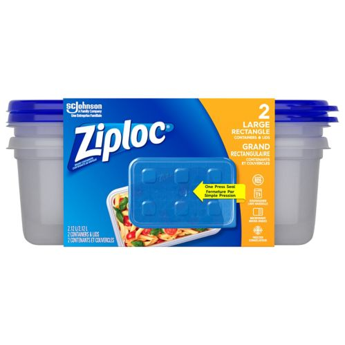 Ziploc Large Rectangle Containers, 2-ct Product image