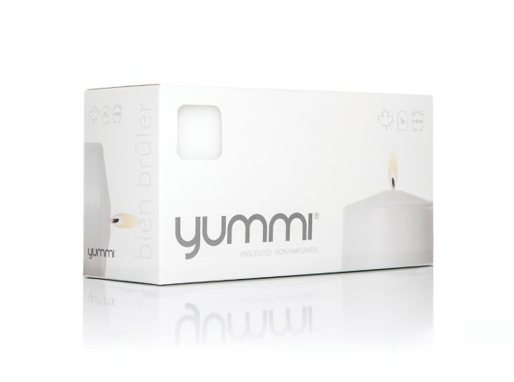 Yummi Candles Unscented White Pillar Candles, 3-pk