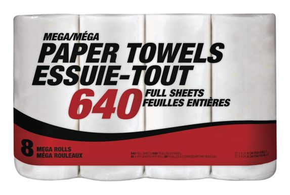 Mega-Format Paper Towel, 8-pk