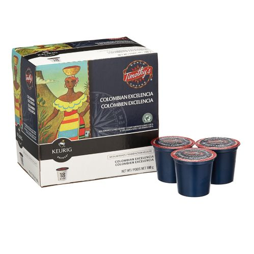 Keurig Timothy's Colombian Excelencia K-Cup Pods, 18-pk