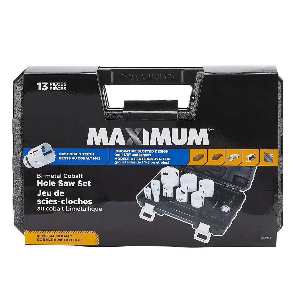 Maximum M42 Bi-Metal Cobalt General Purpose Hole Saw Set, 13-pc