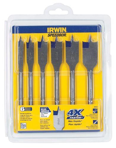 IRWIN 6-piece Speedbor Spade Bit Set