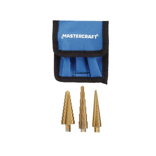 Mastercraft Step Drill Set, 3-pc