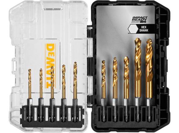 Dewalt Impact Ready Titanium Drill Bit Set 10 Pc Canadian Tire