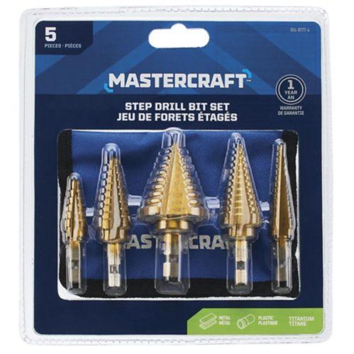 Mastercraft Step Drill Set, 5-pc