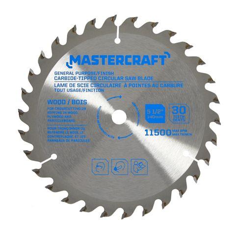 Mastercraft 30T Carbide-Tipped Circular Saw Blade, 5-1/2-in