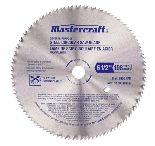 Mastercraft 108T Circular Saw Blade, 6-1/2-in