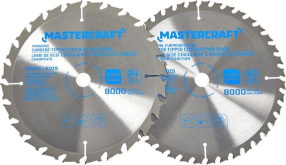 Mastercraft 7-1/4-in 2-piece Carbide Circular Saw Blade Set