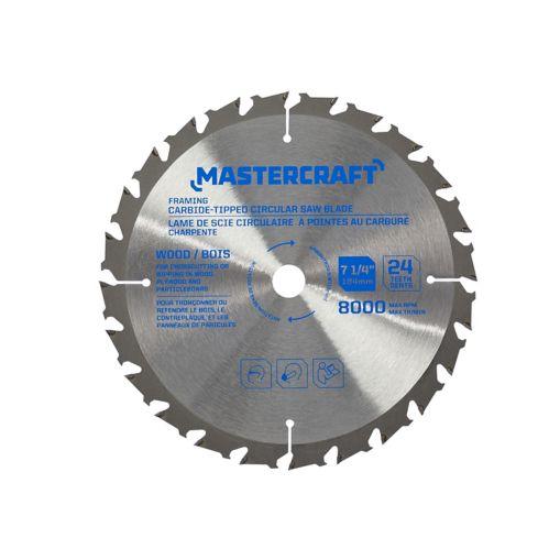 Mastercraft Circular Saw Blade, 7-1/4-in, 24T