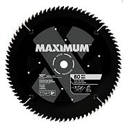 MAXIMUM 80T Fine/Crosscut Circular Saw Blade, 10-in