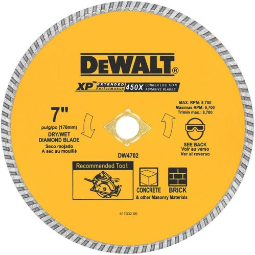 DEWALT Dry Cut Diamond Wheel, 7-in