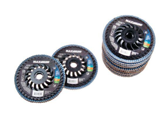 Disques lamelles zirconium MAXIMUM variés, 4 1/2 po, paq.10