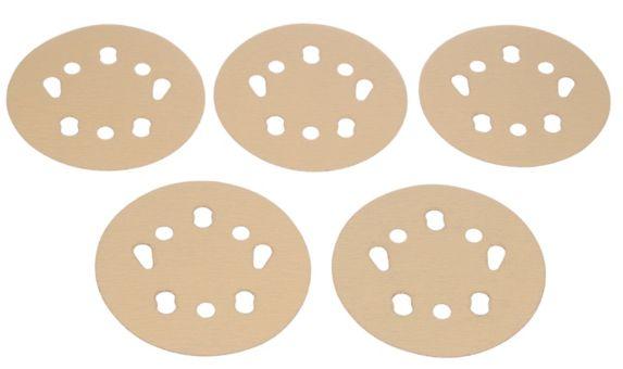 MAXIMUM Universal Hole Contractor Random Orbit Sanding Discs, 5-in, 15-pk