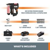 WORX 20V NITRO Brad Nail & Staple Gun   Worxnull