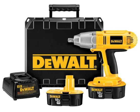 DEWALT 18V NiCad XRP Cordless Impact Wrench, 1/2-in