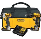 DEWALT 20V Max Li-Ion Cordless Drill & Impact Driver Combo Kit, 1.5Ah | Dewalt | The DEWALT 20V Max Li-Ion Cordless Drill & Impact Driver Combo Kit features a compact, lightweight design perfect for tight spaces The DEWALT 20V Max Li-Ion Cor