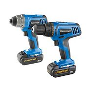 Mastercraft 20V Max Li-Ion Cordless Drill and Impact Driver Combo Kit