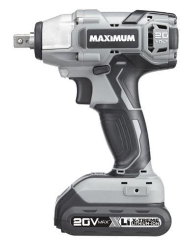 MAXIMUM 20V Max Cordless Impact Wrench Kit, 1/2-in