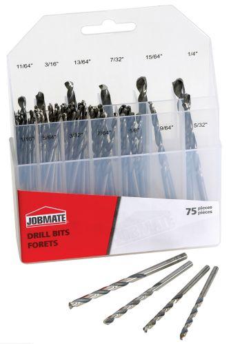 75-piece Jobmate Drill Bit Set