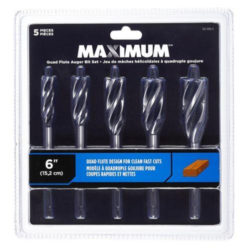 MAXIMUM 5-pc Auger Bit Set