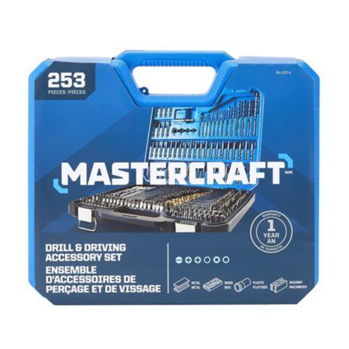 Mastercraft Drill & Screwdriver Bit Set, 253-pc