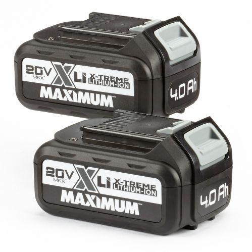 MAXIMUM 20V Max Li-Ion Battery, 4.0Ah,2-pk