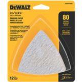 DEWALT Oscillating Hook & Loop Triangle Sandpaper, 80 grit, 12-pk | Dewalt | Canadian Tire