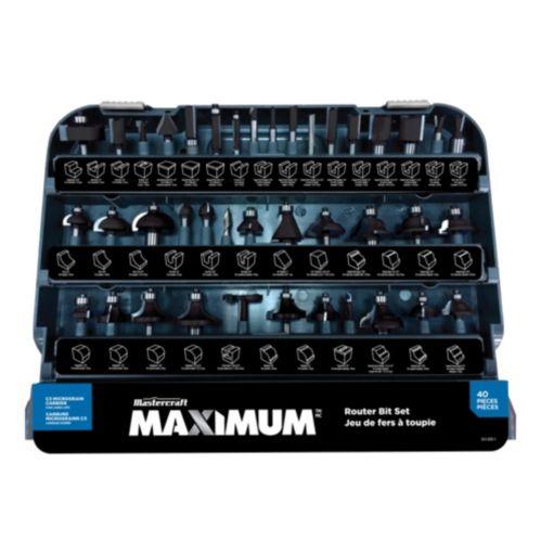 MAXIMUM Router Bit Set, 40-pc