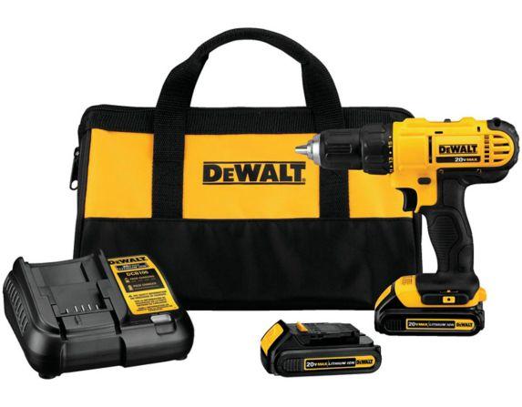 DEWALT DCD771C2  20V MAX  1/2-in Compact Cordless Drill/Driver, 1.3Ah
