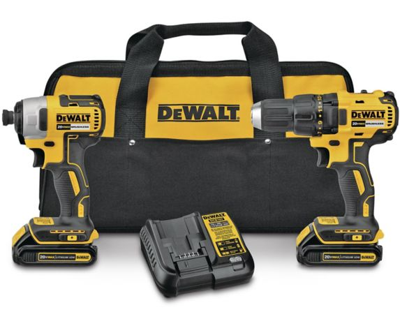 DEWALT DCK277C2 20V MAX Brushless Compact Drill & Impact Driver Combo Kit, 1.3Ah Product image