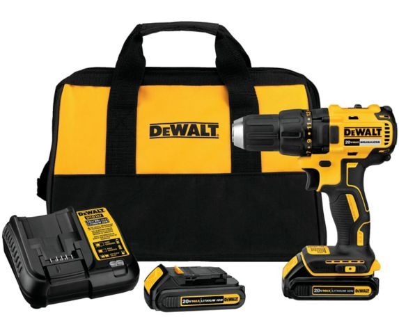 DEWALT DCD777C2 20V MAX 1/2-in Compact Brushless Cordless Drill, 1.3Ah