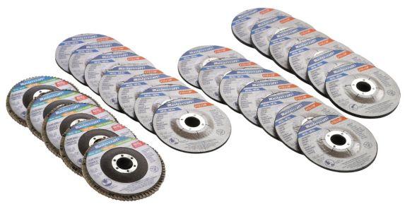 Mastercraft Cut-Off Disc & Flap Wheel Set, 25-pc
