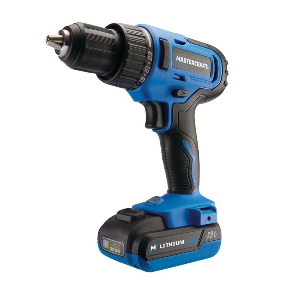 Mastercraft 20V Max Cordless Brushed 1/2-in Drill & 1/2-in Impact Wrench Combo Kit