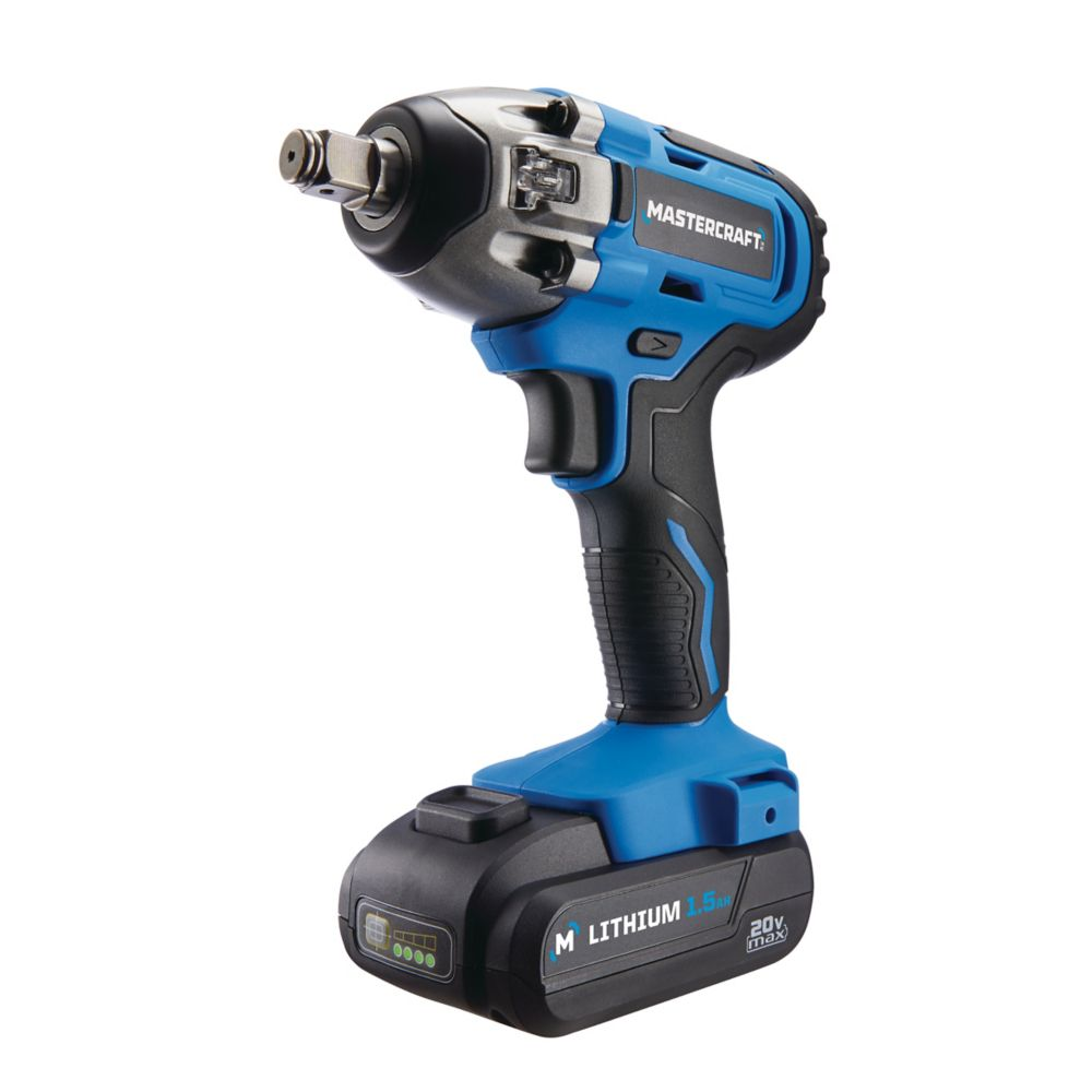 Mastercraft 20V Cordless Brushed Impact Wrench, 1/2-in