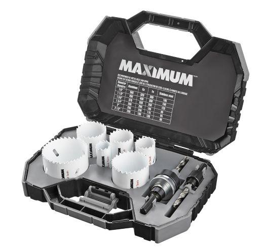 MAXIMUM M42 Cobalt Bi-Metal Hole Saw Kit, 8-pc