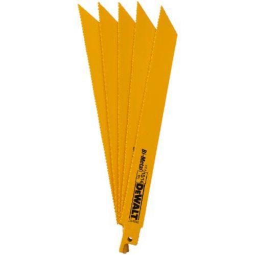 DEWALT 6-in Reciprocating Saw Blades, 5-pk