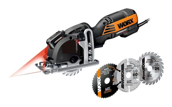 WORX 4A Versacut Mini Circular Saw with Blades, 3-3/8-in Product image