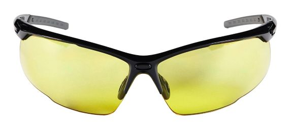 3M™ Performance Eyewear, Black/Grey, Amber Lens, Anti-Fog Safety Glasses