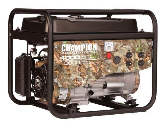 Génératrice à essence Champion, camouflage, 3 000 W