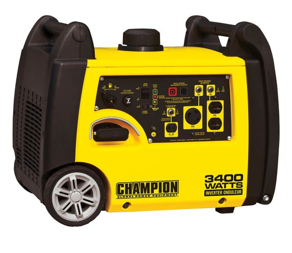 Champion 3100W / 3400W Gasoline Powered Portable Recoil Inverter Generator